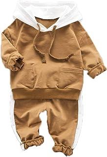 Moneycom❤Toddler - Sudadera con Capucha para niños y niñas, Color Blanco, Azul, marrón