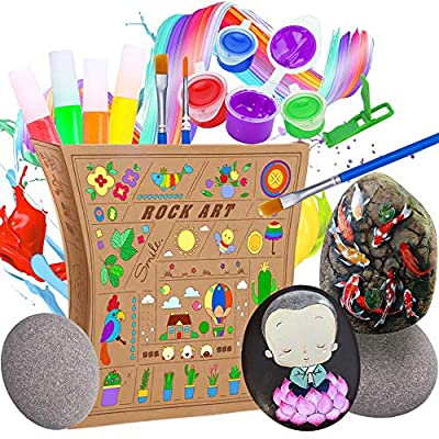 Amazon - Save 30%: Rock Painting Kit, Creativity Arts & Crafts DIY Supplies Kit, Arts and Crafts for Gir…