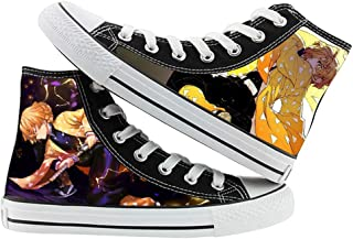 Kamado Tanjirou Kamado Nezuko Agatsuma Zenitsu Cosplay Canvas Shoes High Top Sneakers Unisex