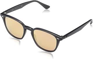Ray-Ban Unisex-Adult Injected Unisex Sunglass 0RB4258 Non-polarized Iridium Square Sunglasses, SHINY OPAL GREY, 50 mm