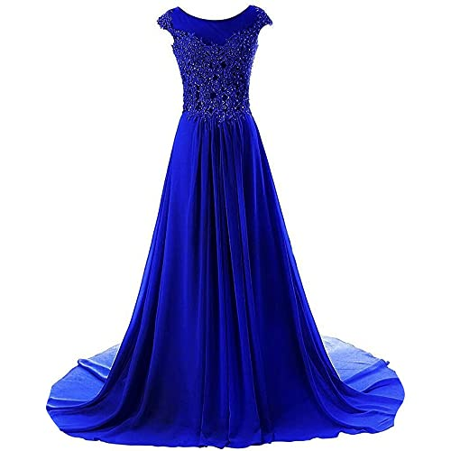 0238e5453fa Prom Dresses Long Evening Gowns Lace Bridesmaid Dress Chiffon Prom Dress  Cap Sleeve