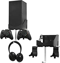 Wall Mount Bracket Bundle for XBOX Series X, Double Controller Bracket with Charging Hole & Earphone Wall Mount, Heat Diss...