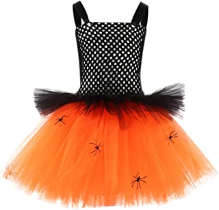 LBPSUUEW Baby Girls Halloween Clothes Sleeveless Tulle Party Princess Dress Princess Dress up for Halloween Cosplay