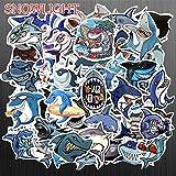 BLOUR 50 Unids/Set Cartoon Graffiti Shark Toy Sticker para Scrapbook Bicicleta Skateboard Refrigeradores Equipaje Laptop JDM Adventure Sticker