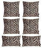 Hodeacc Juego de 6 fundas de almohada con estampado de leopardo, suave felpa con temtica de animal de imitacin de piel decorativa de almohada para decoracin del hogar, 30 x 50 cm + 45 x 45 cm