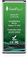 GadFull Batería de reemplazo para Samsung Galaxy S5 Mini | 2019 Fecha de producción | Corresponde al Original EB-BG800BBE | Compatible con SM-G800F | Duos SM-G800H batería de Repuesto