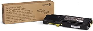 Genuine Xerox Yellow Toner Cartridge for the Phaser 6600 or WorkCentre 6605, 106R02243