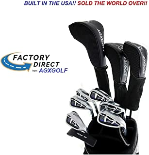 AGXGOLF Senior Men's Regular Length Magnum XL Edition Complete Golf Club Set w/460cc Driver, 3 Wood, 3 Hybrid, 5-9 Irons, Wedge: Right Hand: Built in The USA
