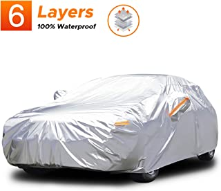 Audew 6 Layers Car Cover Waterproof All Weather Breathable UV Protection Snowproof..