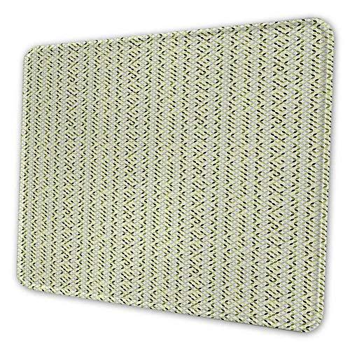 Abstrakte Tastatur Pad OverNoteBook Computerping Kreise in Grün- und Grautönen Abstraktes symmetrisches Fliesen-Mauspad für Männer Lustiges Grün Hellgrau Weiß
