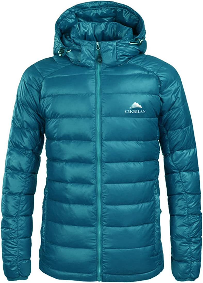 CIKRILAN Men's Windproof Winter Warm Outdoor Lightweight Down Parka Jacket Coat