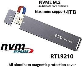 JMT USB 3.0 M.2 NVME External Hard Enclosure RTL9210 ChipPCI-e x4 x2 M2 to Type A M Key SSD Case Box Support 2280 2260 2242 4TB HDD Card Adapter
