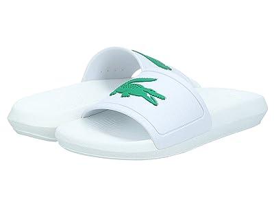 Lacoste Croco Slide 119 3 (White/Green) Women