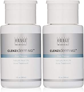 Obagi CLENZIderm M.D. Pore Therapy Salicylic Acid 2% Acne Treatment, 5 Fl Oz Pack of 2