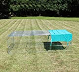 COZY PET Rabbit Run Playpen Rectangular 7 Ft Long x 3 Ft 9 In Wide with Protective Cover Guinea Pig Pen, Dog Puppy Cage Ferret Play Pen RR05. (We do not ship to the Channel Islands.)