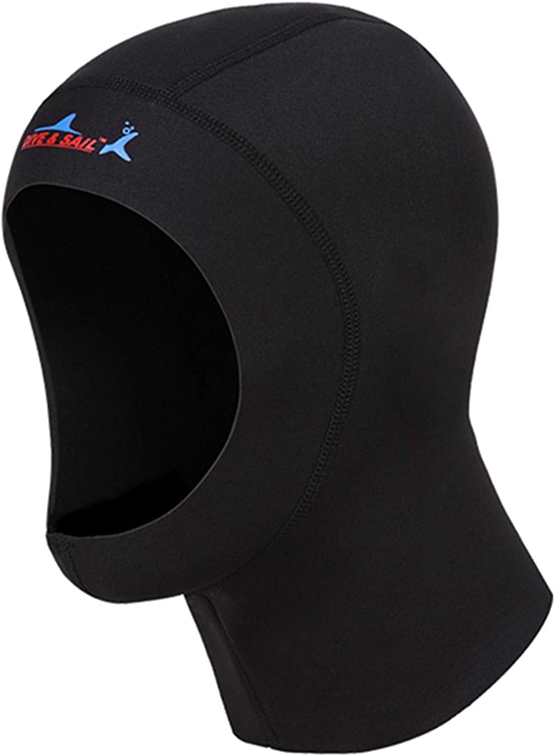DIVE & SAIL 1mm Full Face Mask Neoprene Diving Hood for Men & Women Water Sports
