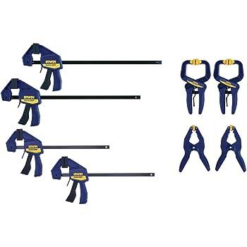 IRWIN QUICK-GRIP Clamps Set, 8-Piece (IRHT83220)