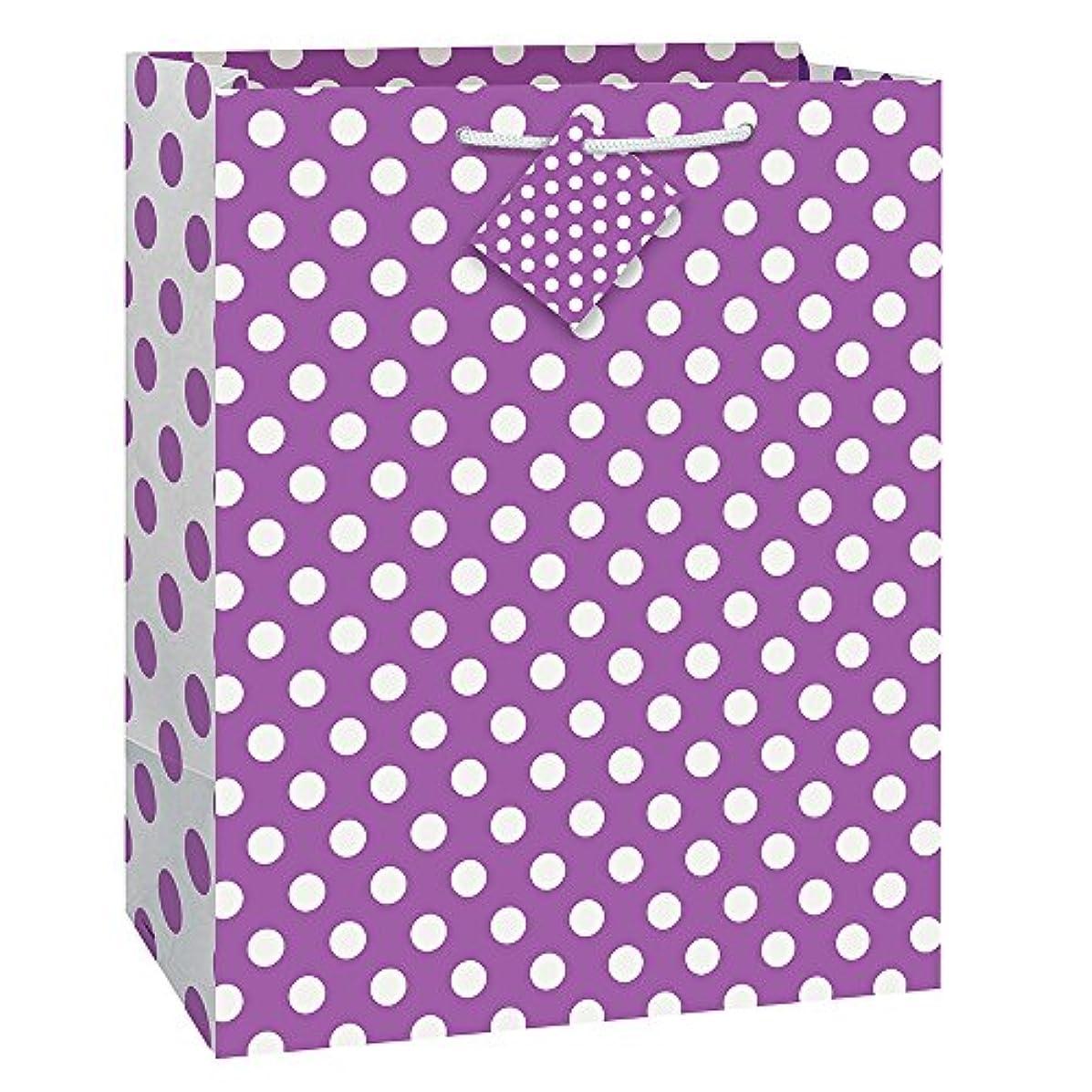 Purple Polka Dot Gift Bag, 12.5