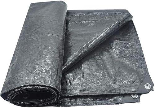 Bache de Prougeection épaisse écran Solaire en Plein Air Imperméable Imperméable à l'eau De Pluie Noir Tissu en Plastique (Taille   4  6m)