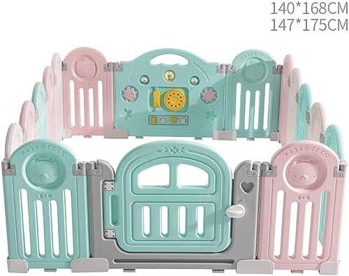 aquí tiene la última JSSFQK Valla de Seguridad para para para bebés Plegable y Segura para el bebé gateando a casa, gateando, Resistente a los Golpes Valla Projoectora (Tamaño   147cm×175cm)  descuento online