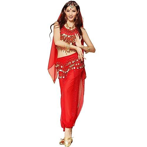 de2e91f329137 Best Dance Women Belly Dance Costume Set Red