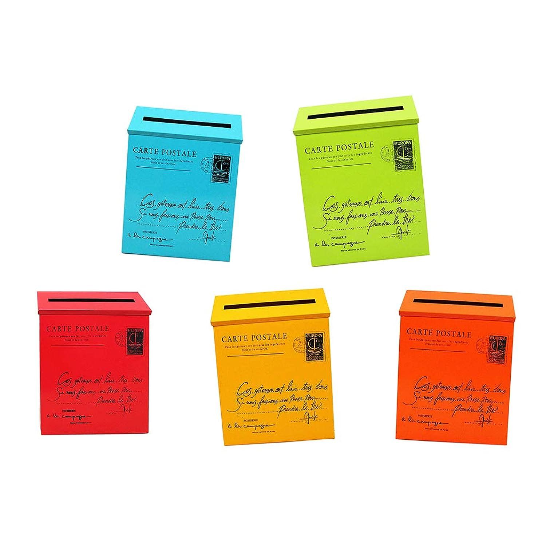 Perfeclan メールボックス 宅配ボックス ポスト 郵便受け ヴィンテージ レターボックス 軽量 5個入り