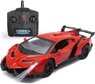 QUN FENG Remote Control RC CAR Racing Cars Compatible with Lamborghini Veneno 2.4G 1:24 Toy RC...