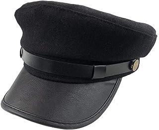 ericotry 1pcs Black Chauffeur Hat Fisherman Hat Driver Hat Doorman Hat Costume Hats for Men and Women