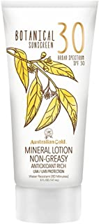 Australian Gold Botanical Sunscreen Mineral Lotion, SPF 30, 5 Ounce | Broad Spectrum | Water Resistant