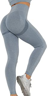SLIMBELLE® Scrunch Butt Push Up Gym Leggings Hög Midja Tik Tok Legging Booty Lift Sömlösa Yogabyxor Kompression Sport Tigh...