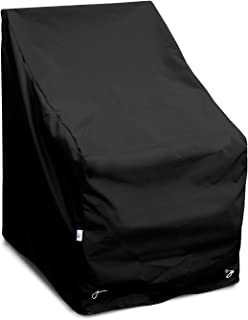 KoverRoos Weathermax 74222 High Back Chair Cover, 32-Inch Width by 37-Inch Diameter by 39-Inch Height, Large Black