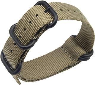 18-24mm nero NATO nylon balistico sostituzione cinturino per gli uomini con fibbia in acciaio inox