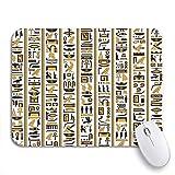 yyndw Alfombrillagamingcon Patrón Jeroglíficos Egipcios Amarillo Negro Color Antiguo Ankh Antigüedades Juego De Oficina Portátiles Ordenadores Coloridos 2 Tamaños Antideslizante Impreso 25X30cm