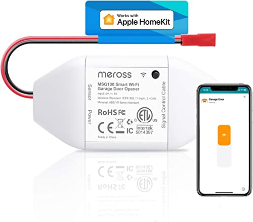meross Smart Garage Door Opener Remote, Compatible with Apple HomeKit, Amazon Alexa, Google Assistant, SmartThings, M...