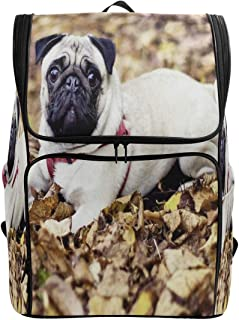 Travel Backpack Pug HD School Backpack for Women Big Boxy Bag