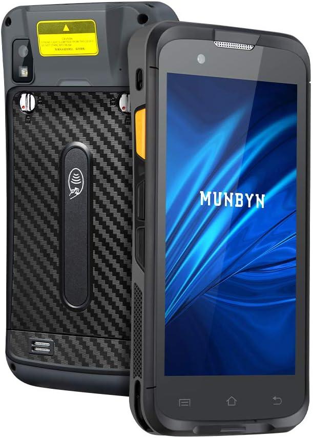 MUNBYN PDA Android 7.1 Industrial Lector Código de Barras Lente Zebra 1D/ 2D, 5 Pulgadas 3G/ 4G/ GPS/WiFi Ordenador en Mano 4000 mAh IP65 para Almacén, Restaurante, Mercado
