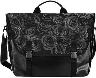 Black Rose Love - Bolso de lona para hombre, diseño retro