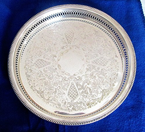 """Vintage FB Rogers Silver Plated 13"""" X 1-3/4"""" Platter or Tray"""