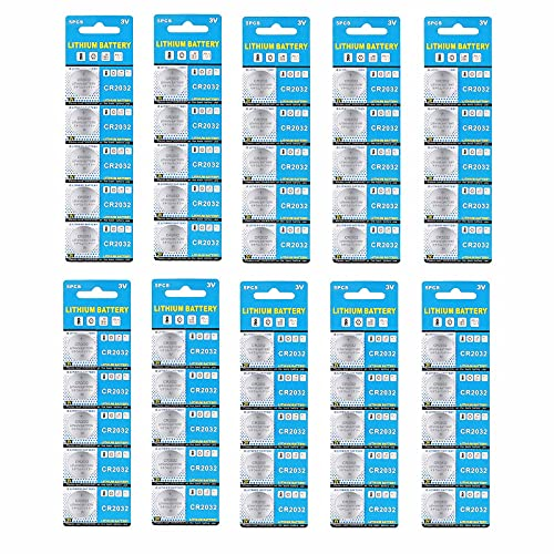 50 Pack 3V High Capacity Lithium Button Coin Cell Batteries CR2032 DL2032 ECR2032 GPCR2032 Used in Most Electronic Devices (CR2032)