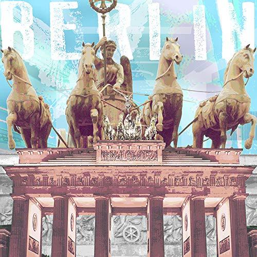 StadtKUNST - das Original: Bild auf Aluminium Quadriga Berlin Format 37x37