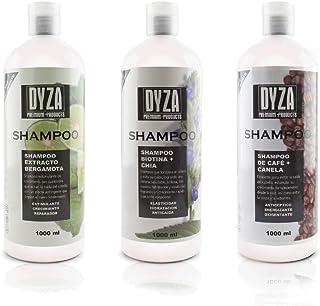 Shampoo de Biotina, Café, Bergamota contenido 3 piezas c/u de 1000 ml.