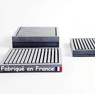 Porte Savon de Marseille ● Douche Salle de Bain Cuisine ● Support Savon Carré ● Fabriqué en France ● Fait Main en Béton fi...