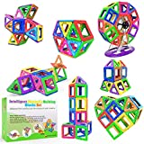 Desire Deluxe Bloques de Construcción Magnéticos Infantiles - Juego Creativo Educativo de 94 Piezas de Formas Geométricas con Imanes para Estimular la Imaginación Niños y Niñas