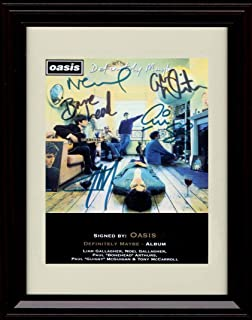 Framed Oasis Autograph Replica Print - Definitely Maybe