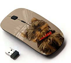 KawaiiMouse [ Optical 2.4G Wireless Mouse ] Yorkshire Terrier Dog Small Brown Furry
