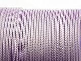 10 m Polyesterkordel gewachst in flieder, 1 mm von Vintageparts, DIY-Schmuck