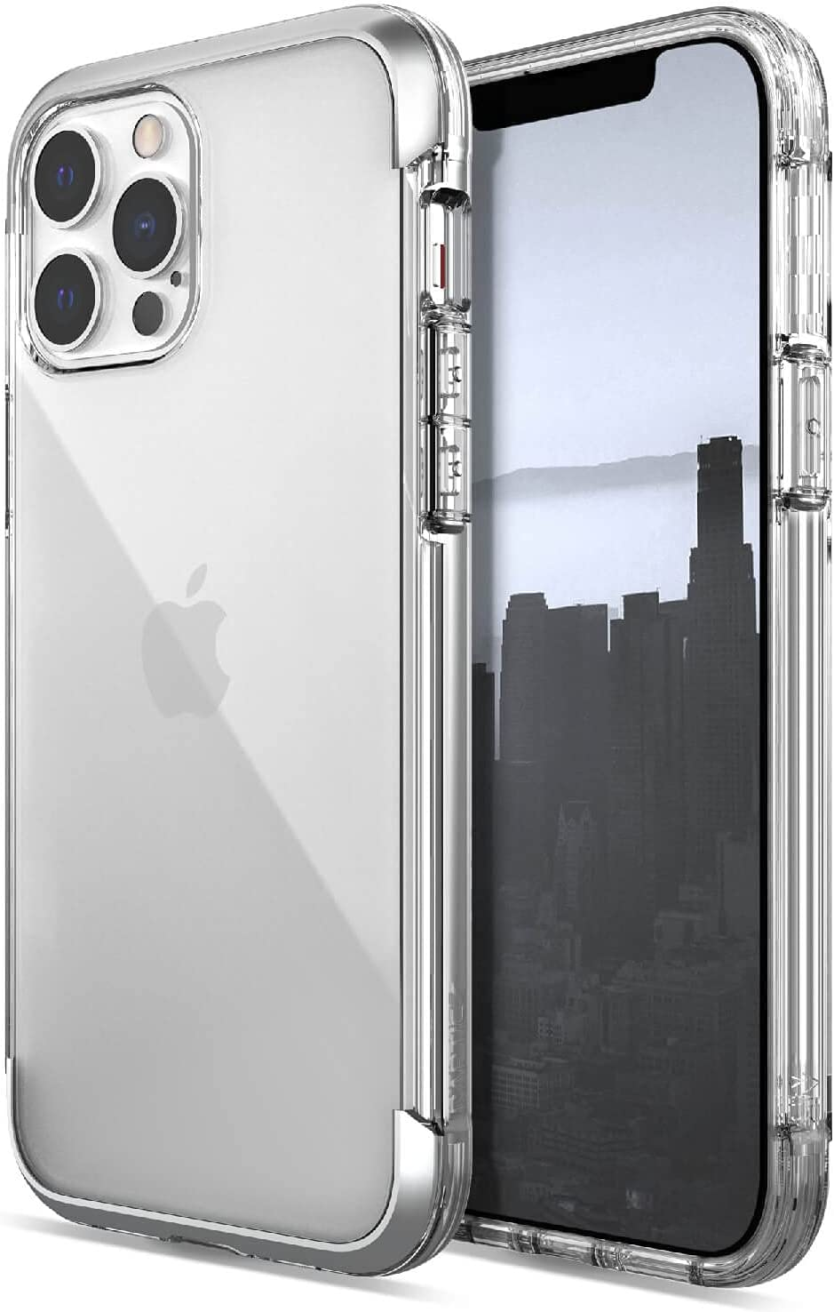 Raptic Air Case Compatible with iPhone 13 Pro Max Case, Scratch Resistant, Aluminum Metal Bumper, Wireless Charging, 13ft Drop Protection, Fits iPhone 13 Pro Max, Clear