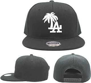 Headlines Los Angeles New Leader Custom LA Palm Black White Era Snapback Hat Cap
