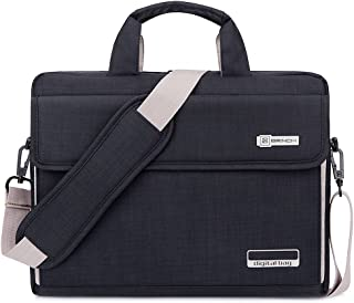 Brinch Unisex 13-Inch Laptop Messenger Bag for Apple, Acer, Asus, Dell, Fujitsu, Lenovo, HP, Samsung, Sony, Toshiba - Black