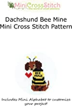 Dachshund Bee Mine Mini Cross Stitch Pattern